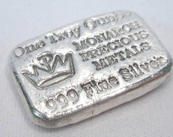 1 oz. Monarch Precious Metals, .999 Fine Silver