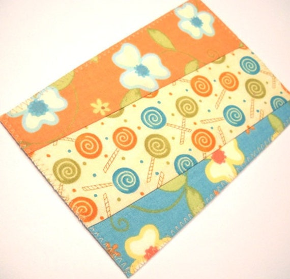 Fabric Postcard - Quilt Pieces
