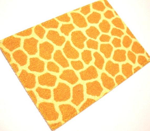 Fabric Postcard - Giraffe