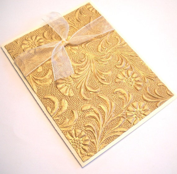 Sympathy Card - Gold Dry Embossed