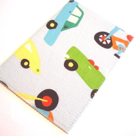 Fabric Postcard - Cars