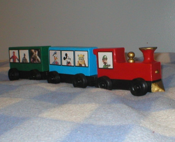 "Wooden Toy Train, 2.75"" tall."
