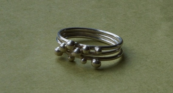 stacking ring set - all silver stackables - size 8