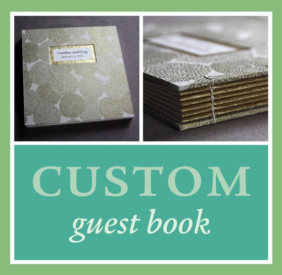 RESERVED for Courtney: Custom wedding guest book