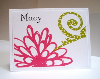 Pink Flower Note Cards