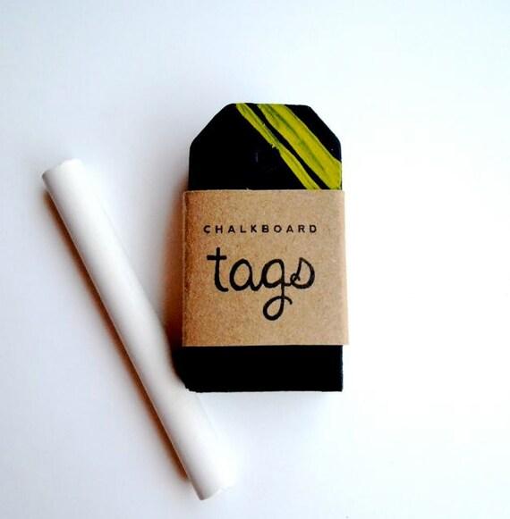 small striped chalkboard tags (set of 8)