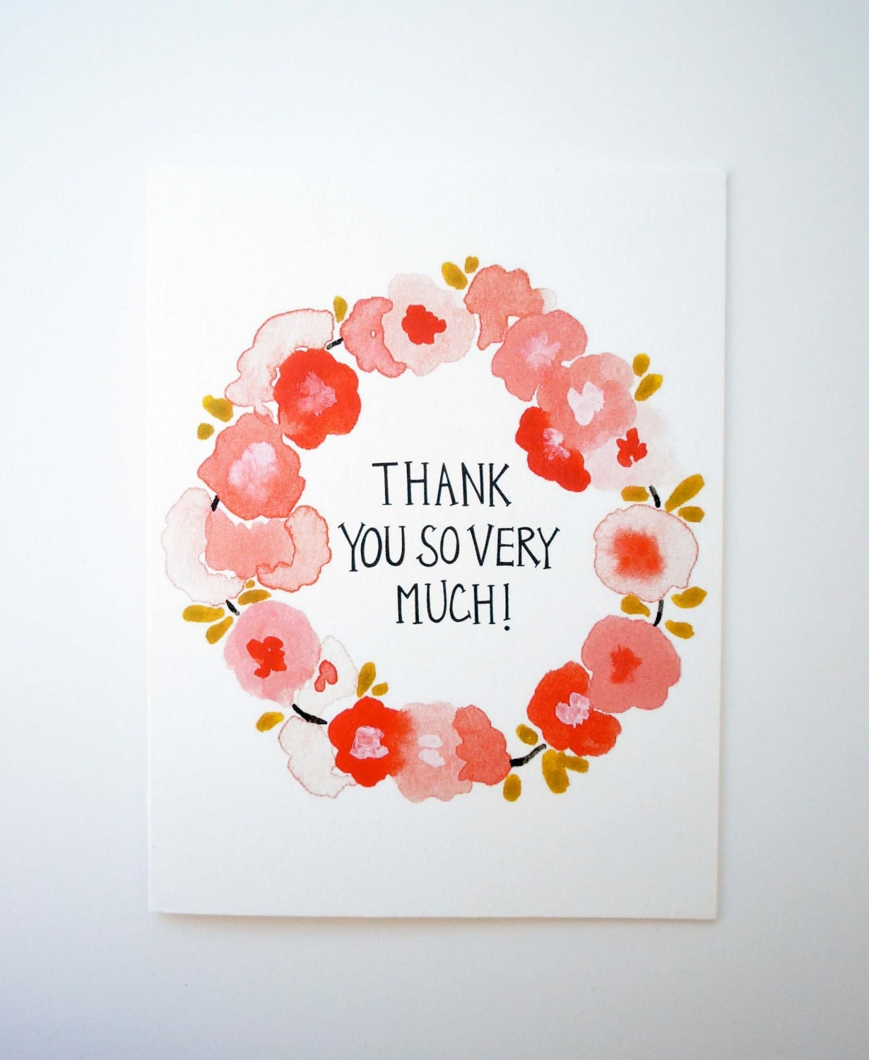 thank you so very much card & envelope
