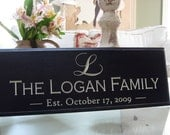 Personalized Established Signs...Carved Personalized Family Name Sign 8 x 20