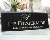 Carved Engraved Wedding  Family Name Sign Wall Sign Family Plaque 4R3