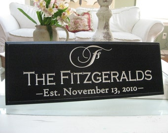 Custom name sign  8x20 Carved and Painted Awesome Gift