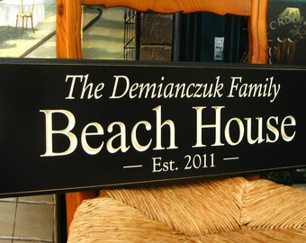 Personalized Sign,  Beach House, ...The Difference is in the Detail...8x24