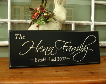 Family name plaque .... .Carved Personalized Family Name Sign .....  Makes Great Wedding Gift 4R2