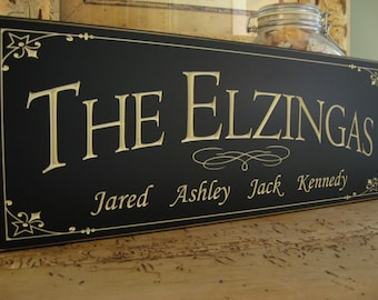 Anniversary Sign, Carved Family Name Sign, great family gift, Family name sign, last name sign