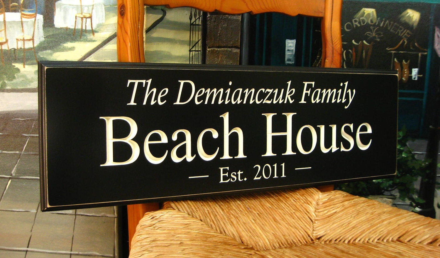 Personalized sign beach house the difference is in the for Custom beach house