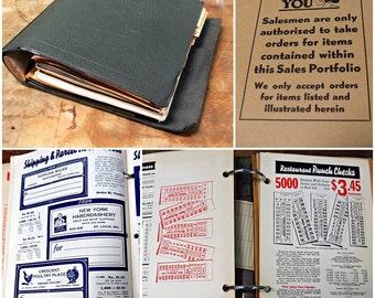 1937 Salesman Sample Order Book David Lionel Press Advertising Idea Bible Art Deco Design Reference