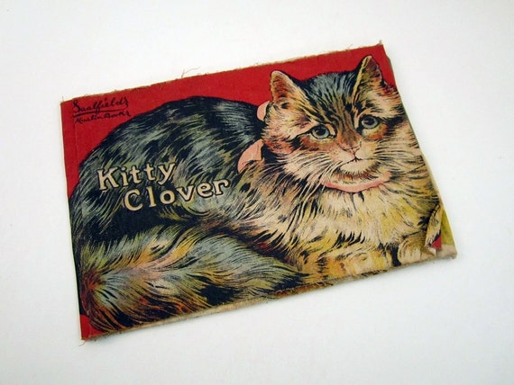 Kitty Clover - 1880s Cat Verse - Saalfield's Muslin Books