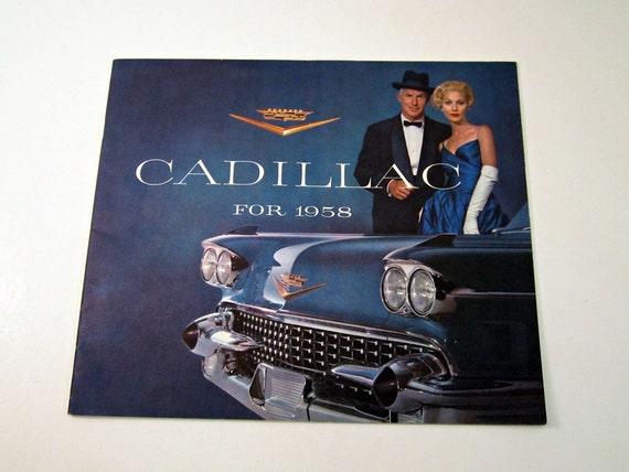 1958 Cadillac Dealer Brochure - Don Draper Mad Men Cover