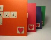 handmade valentine note card - twelve points