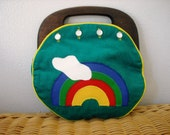 Cute Vintage Rainbow Purse