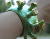 OnReserve Paris Citrine Chunks Big Bold Bracelet Cuff