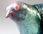 Clutch Purse Evening Bag Pigeon Bird Fun OOAK