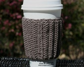 Taupe Brown Coffee Cup Cozy Eco Friendly Reusable