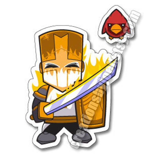 Castle Crashers Orange Knight Magnet by creationsbyjoel on ...