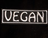 Vegan embroidered iron on patch