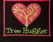 Tree Hugger embroidered iron on patch