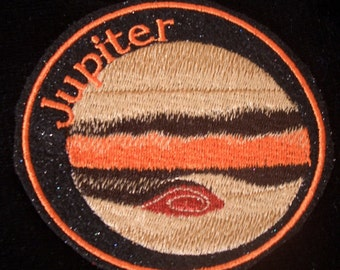 4 inch planet jupiter embroidered iron on patch