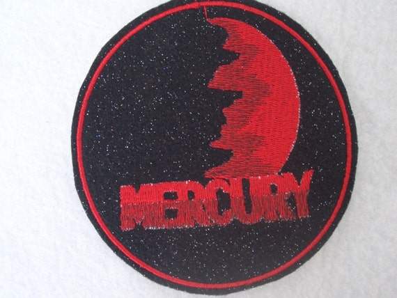 4 inch Planet Mercury embroidered iron on patch