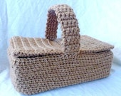 Crocheted Picnic Basket