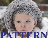 PATTERN - Toddler Sized Crochet Slouch Hat