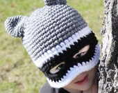 Raccoon Mask Hat with Tail