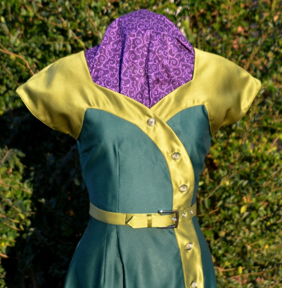 BUY ME SALE!! 50's swing dress, Vintage Reproduction. Great Costume!  ~ New ~