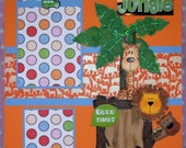 Welcome to the Jungle (Wild Thing) - 12x12 Premade Scrapbook Pages - 2 Page Layout