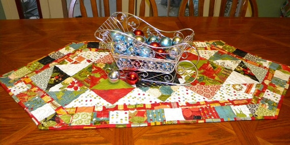 A Jovial Christmas HANDMADE Quilted Table Runner