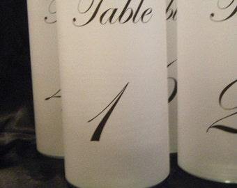 Table Number Luminaries - Set of 10- Ready to Ship