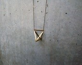 tetrahedron necklace - RESERVED FOR SARAH RAE