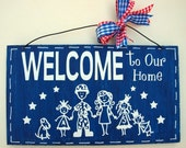Stick Figure Family Welcome Signs