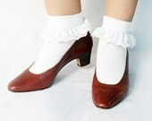 Brown 1980s 1950s Style Pumps Size 10