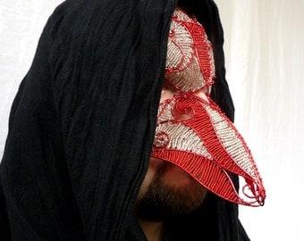 Mens masquerade mask , Halloween mask, Masked ball mask, Masquerade ball mask, Red mask, Silver mask, Handmade mask, Scary mask, Mens mask