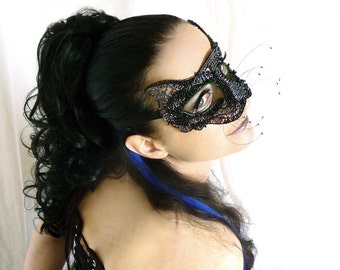 Black cat masquerade mask, Animal mask, Masked ball mask, Masquerade ball mask, Cat mask, Costume accessories, Womens mask, Cat costume