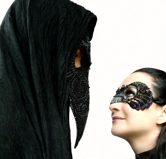 Jackdaw womens masquerade mask, costume, accessories, handmade