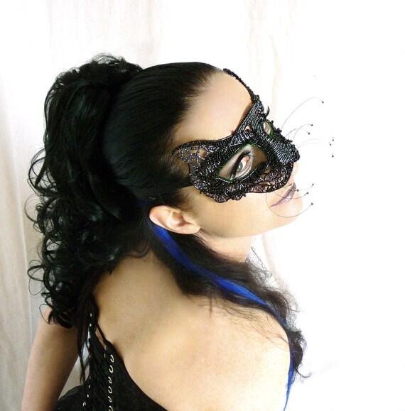 Black cat masquerade mask, Animal mask, Masked ball mask, Masquerade ball mask, Cat mask, Costume accessories, Womens mask, Cat costume
