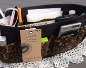 Purse ORGANIZER Insert SHAPER / Leopard Print - style 2 / Extra STURDY / 5 Sizes Available / Check out my shop for more variety