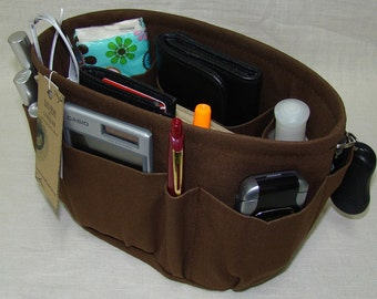 """Purse ORGANIZER insert SHAPER / Oval / 8"""" x 6"""" x 6""""H / You Choose the Color / STURDY / With or without the stiff bottom"""