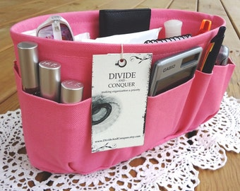 Bubble Gum Pink / Purse ORGANIZER insert SHAPER / STURDY and durable / 5 Sizes Available / Check out my shop for more colors & styles