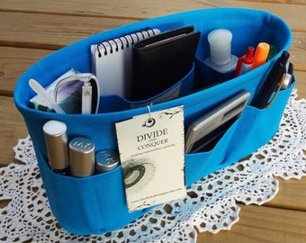 Turquoise / Purse ORGANIZER insert SHAPER / Bag Organizer / STURDY / 5 Sizes Available / Check out my shop for more colors & styles