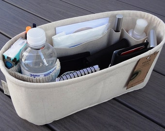 "Oval 14"" x 5"" and 6"" or 7"" Height / Purse ORGANIZER Insert Shaper / 1 extra option & stiff wipe-clean bottom / Sturdy / You Choose the Color"